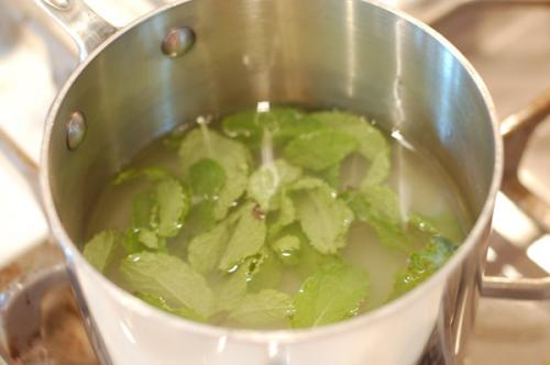 mojito recipe: mint infused simple syrup