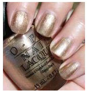 gold nail polish | Opi Swiss Shades Glitzerland
