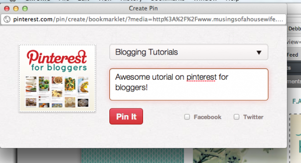 Pinterest Tutorial | Description and Category