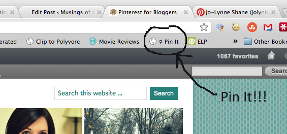 Pinterest Pin It Bookmarklet