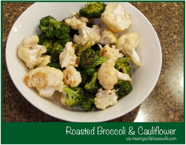 Roasted Broccoli and Cauliflower via Musings of a Housewife
