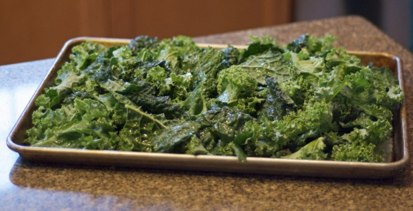 kale chips ready to bake