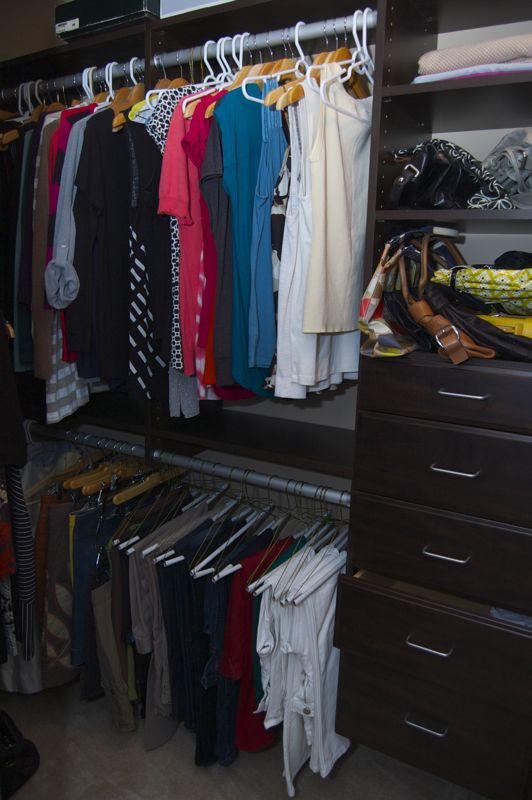 Master bedroom closet makeover with easyclosets for Easyclosets