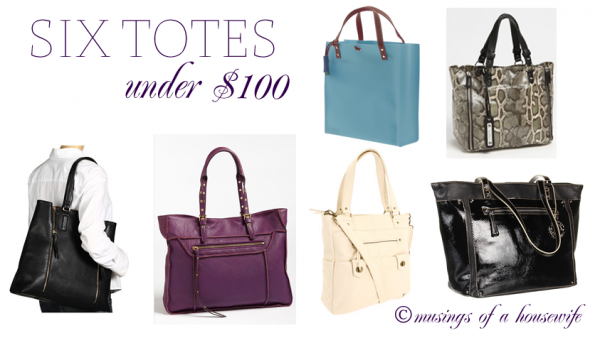 six totes under $100