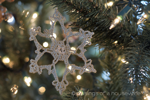 crocheted snowflake ornament