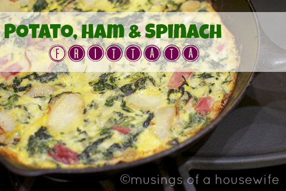 Potato Ham & Spinach Frittata via Musings of a Housewife