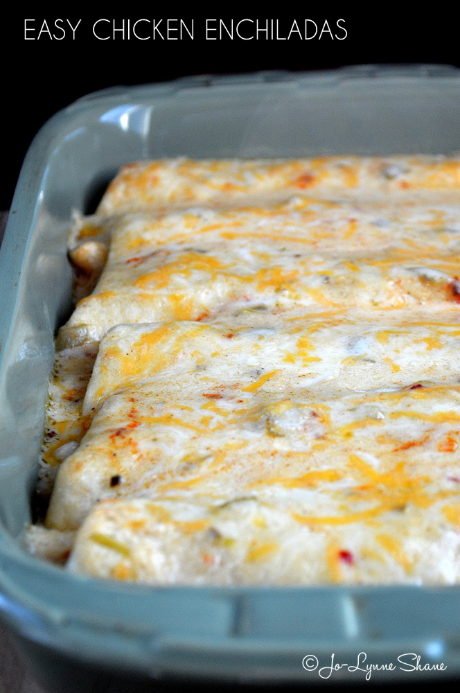 Easy Chicken Enchiladas: Cooked chicken meat, heavy whipping cream ...
