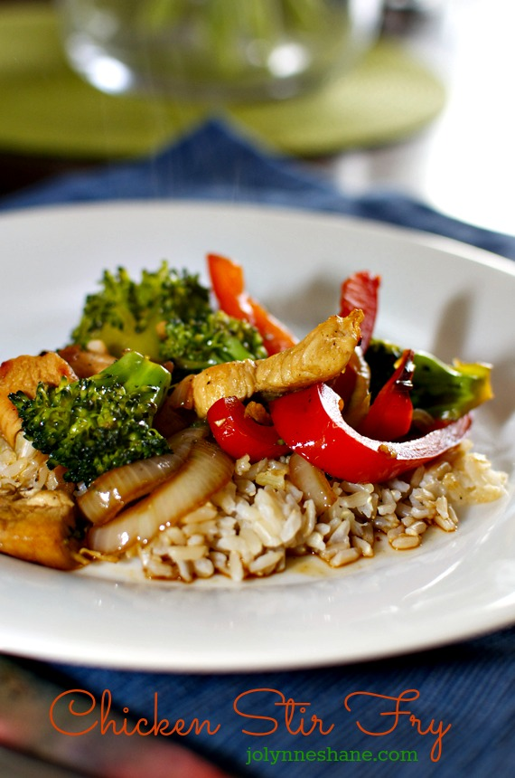 This EASY Chicken Stir Fry Recipe is a hit with my kids and it's an easy dinner recipe to throw together on a busy schoolnight.