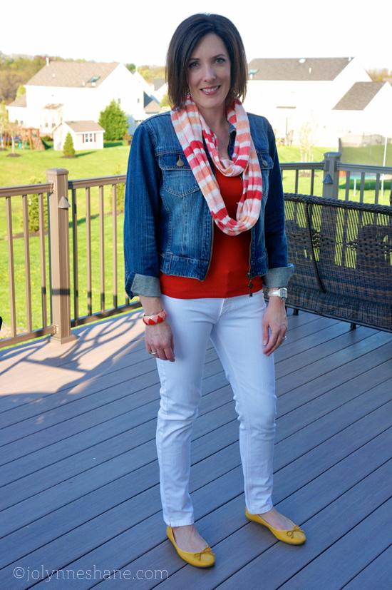 #ootd white jeans