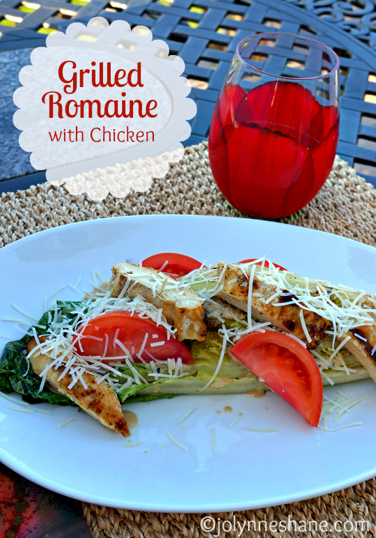Grilled Romaine with Chicken