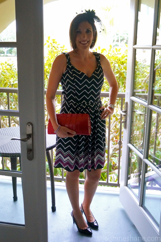 Kentucky Derby Style Outfit with Fascinator