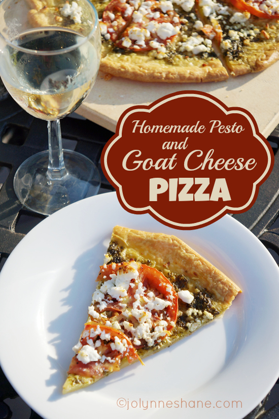 pesto goat cheese pizza