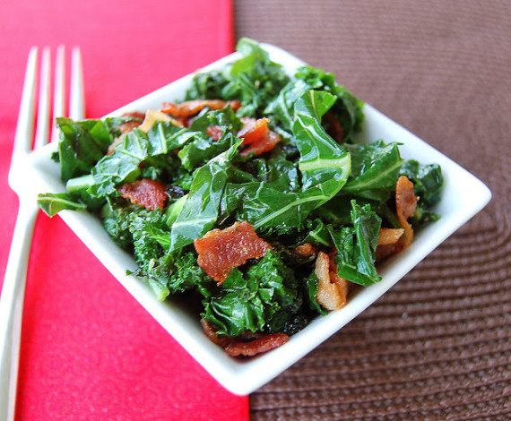 Quick Kale with Bacon