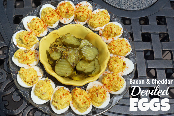 Bacon Cheddar Deviled Eggs Recipe — Dishmaps