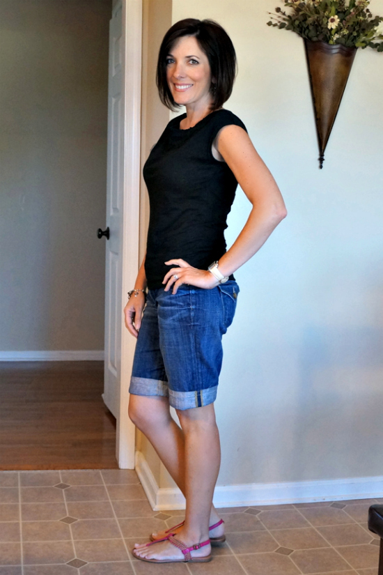 black and denim with pink #30daysofsummeroutfits