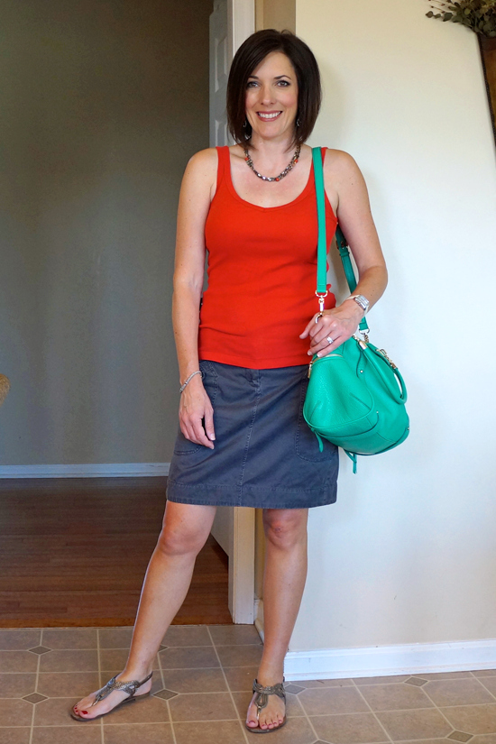 orange and gray #30daysofsummeroutfits