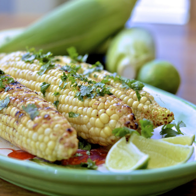 Grilled Corn with Ancho Chili Butter