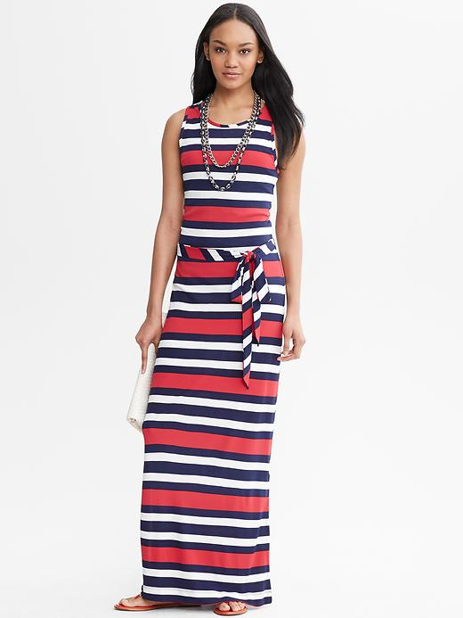 Banana Republic Multi-Stripe Patio Dress