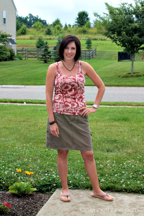 casual skirt and tank