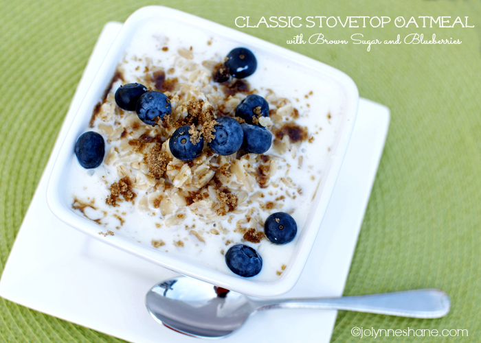 classic stovetop oatmeal