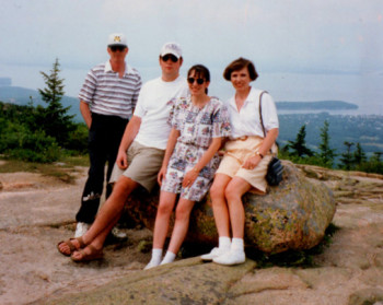 Our family in Maine, summer 1995