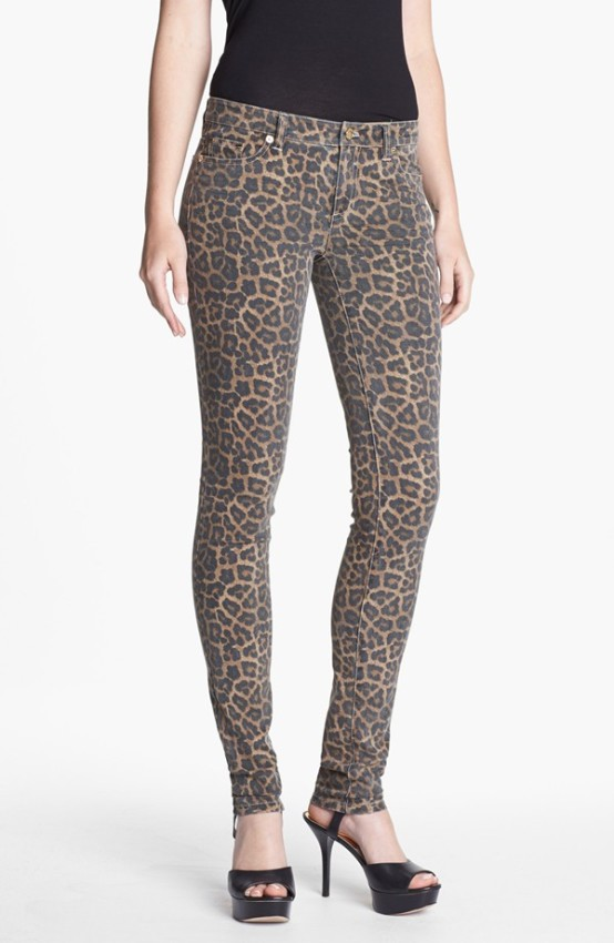 Jaguar Spot Skinny Jeans