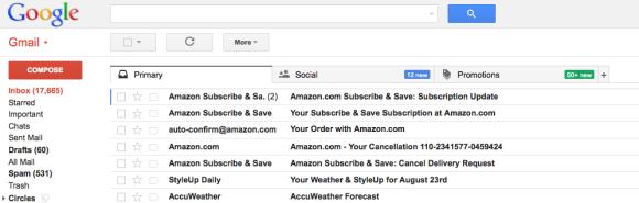 New Gmail Tabs