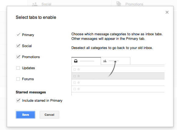 How to Turn off Gmail Tabs