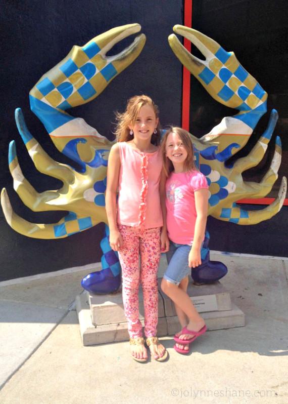 My girls at the National Aquarium Baltimore