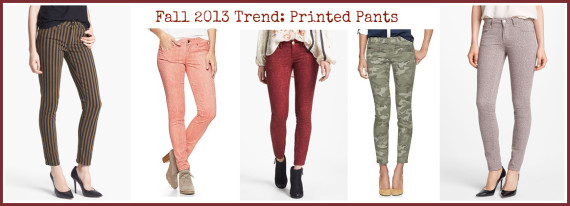 Fall 2013 Trend: Printed Pants