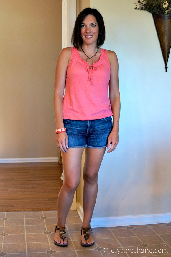 coral and denim