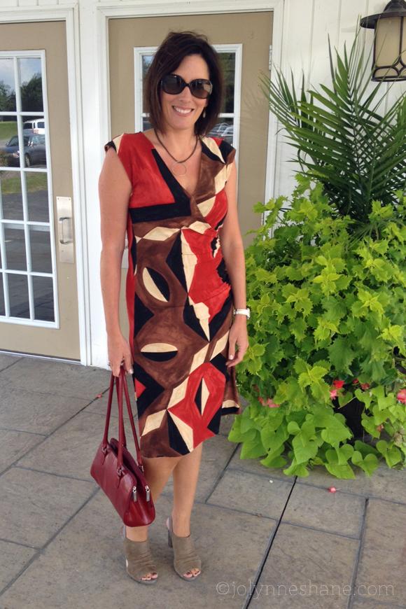 geometric print dress #OOTD