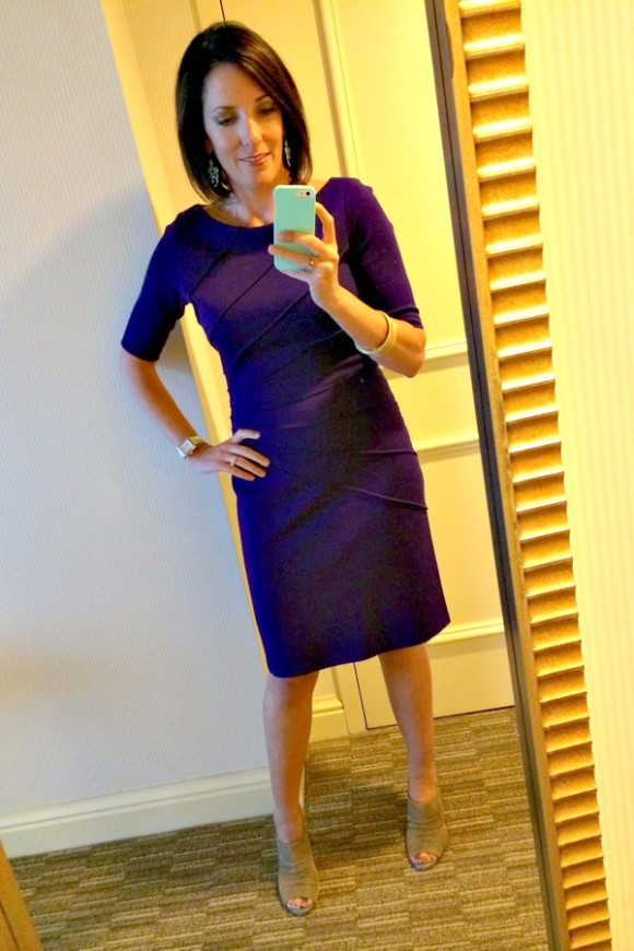 OOTD purple dress