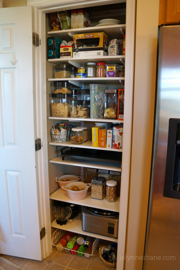 my new and MUCH IMPROVED pantry