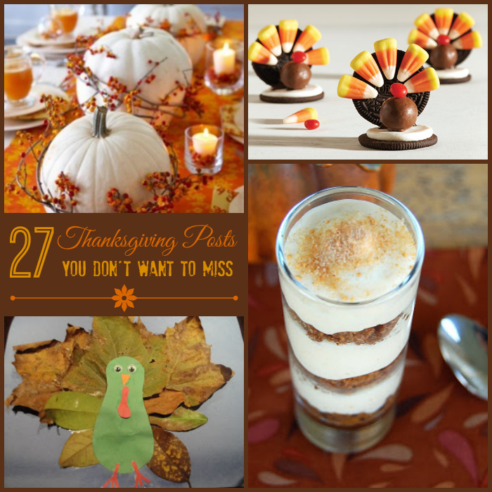 A Food And Recipe Blog Post Thanksgiving: 27 Thanksgiving Crafts, Recipes & Decor Ideas