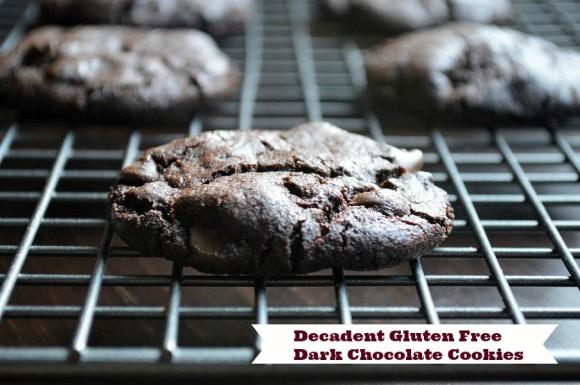Gluten Free Dark Chocolate Cookies - text