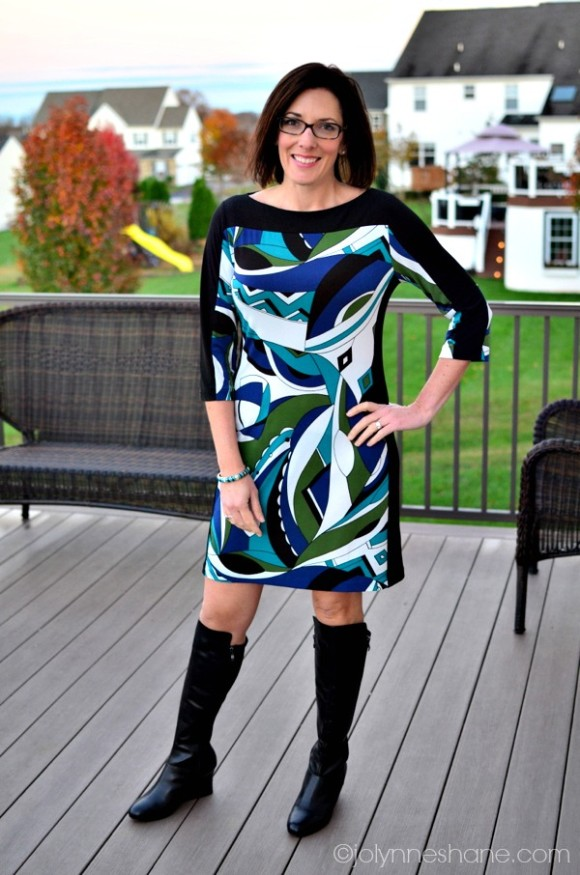 Joelle Boots with a Dress