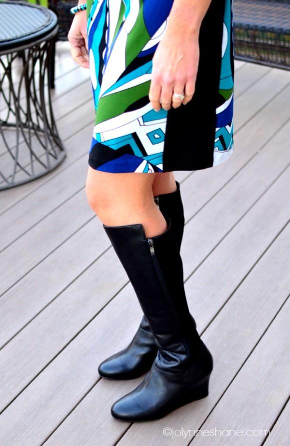 boots dress closeup
