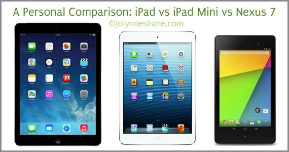 iPad vs iPad Mini vs Google Nexus 7