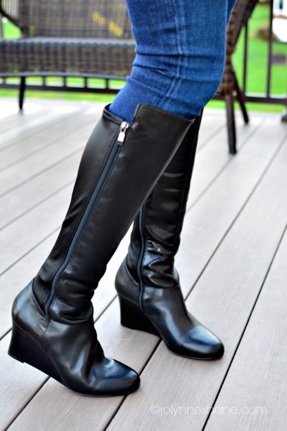 jeans boots closeup