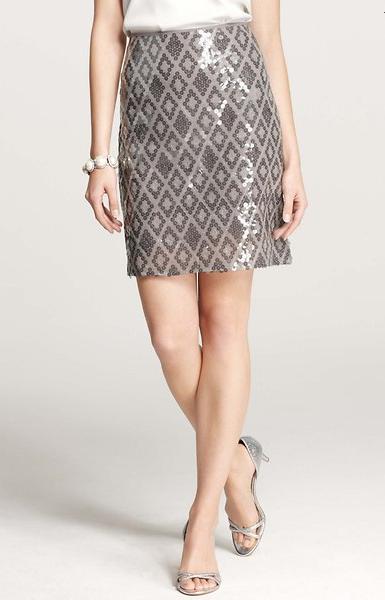 Sequin Mirror Skirt