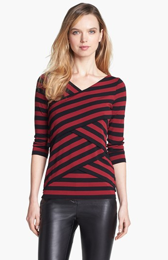 Tiered Striped Top