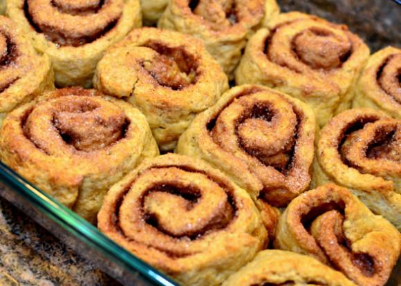 cinnamon rolls cooked