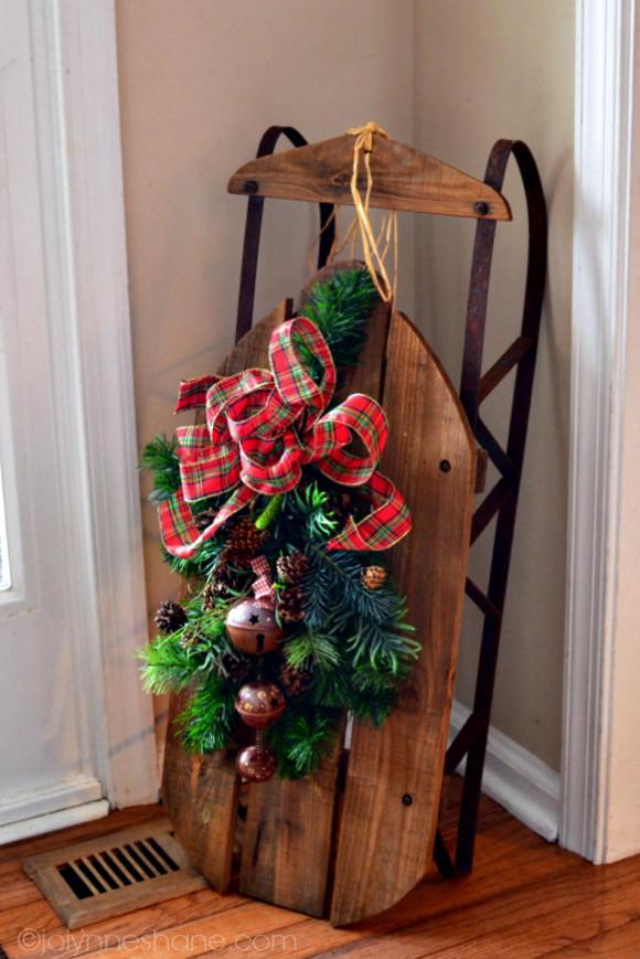 decorative sled