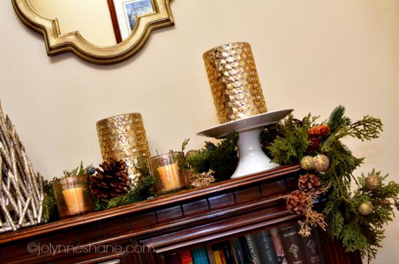 gold hurricane candle holders