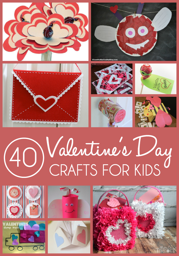 40 VALENTINE'S DAY CRAFTS FOR KIDS: With Valentine's Day just around the corner, I thought it might be helpful to round up some Valentine crafts to keep the kids busy.