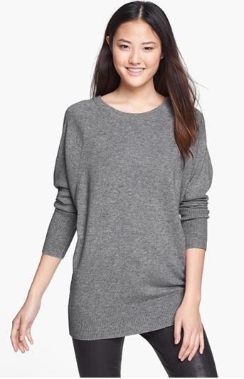 Halogen® Raglan Seam Dolman Sleeve Sweater