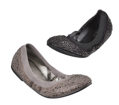 Women's Mossimo® Vanessa Scrunch Ballet Flat with Sparkle