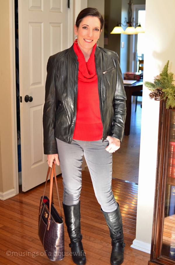 fashion over 40 black leather jacket