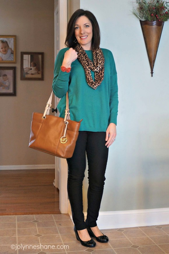 fashion over 40: teal and leopard